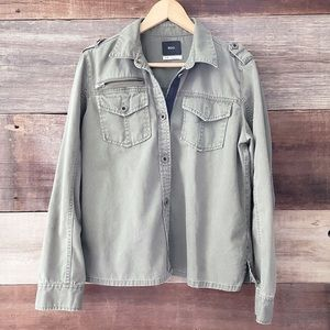 Urban Outfitters BDG Olive Green Button-Up Shirt